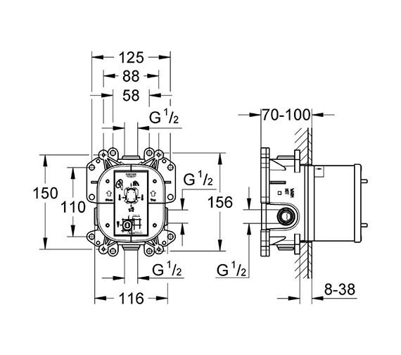 Technical drawing QS-V6310 / 35501000
