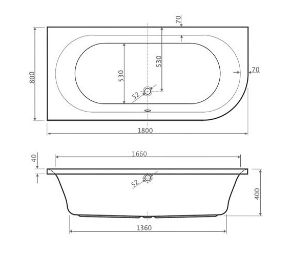 Technical drawing QS-V34666 / Aquaestil - QS-V34666