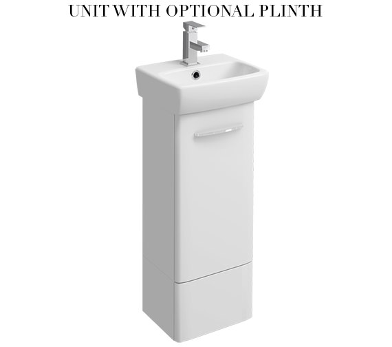 Additional image of Twyford E100 Square 305mm White Unit For 360mm 1 Or 2 Tap Hole Basin