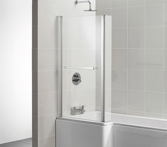 Ideal Standard Concept 808 - 828 x 1403mm Square Shower Bath Screen