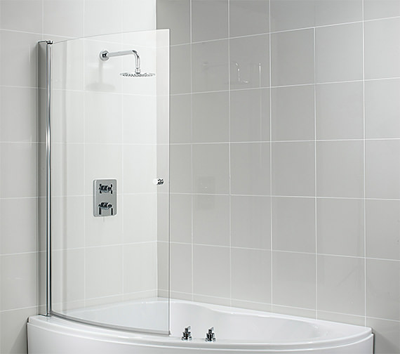 ideal standard create 955 975 x 1500mm curved shower