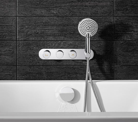 Crosswater Dial Bath - Shower Valve With Central Trim And Ethos Handset