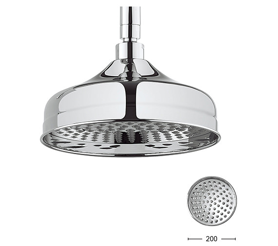 Additional image of Crosswater Belgravia 150mm Round Fixed Shower Head Chrome