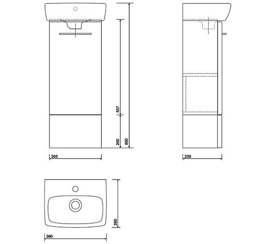 Technical drawing QS-V10686 / E10372GA