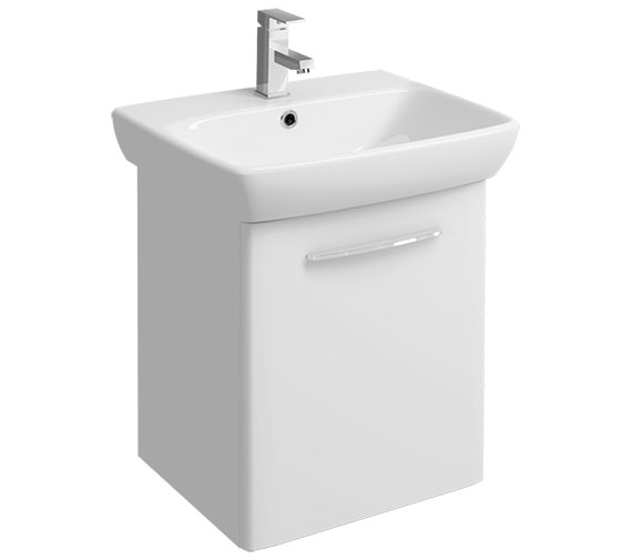 Twyford E100 Square 568mm Unit And 600mm 1 Tap Hole Basin
