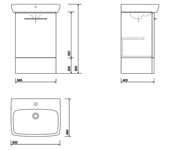 Technical drawing QS-V10693 / E10376WH