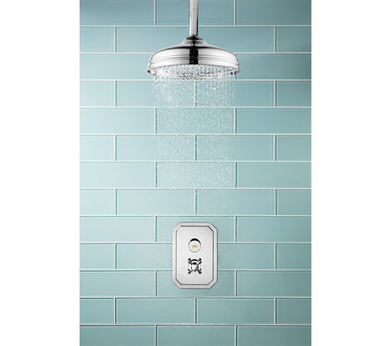 Alternate image of Crosswater Dial - Belgravia 1 Control Valve With Shower Head And Ceiling Arm