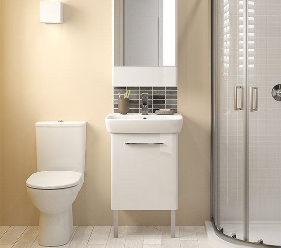 Alternate image of Twyford E100 Square 464mm Unit And 550mm 1 Tap Hole Basin