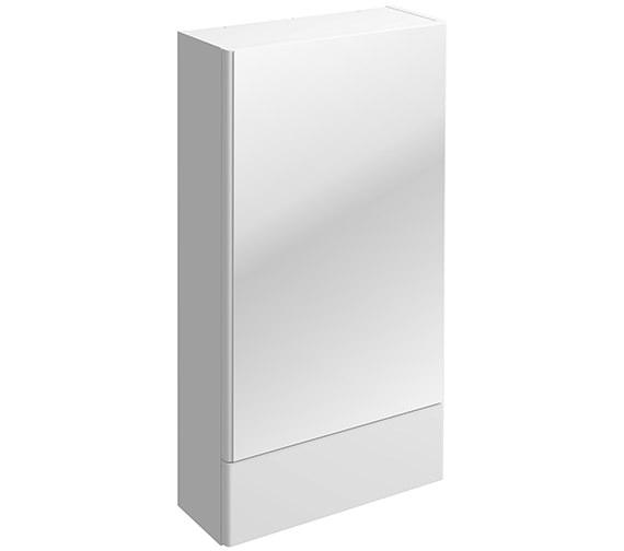 Twyford E100 464 x 850mm Square Mirror Cabinet White