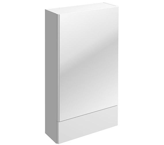Twyford E100 493 x 850mm Square Mirror Cabinet White