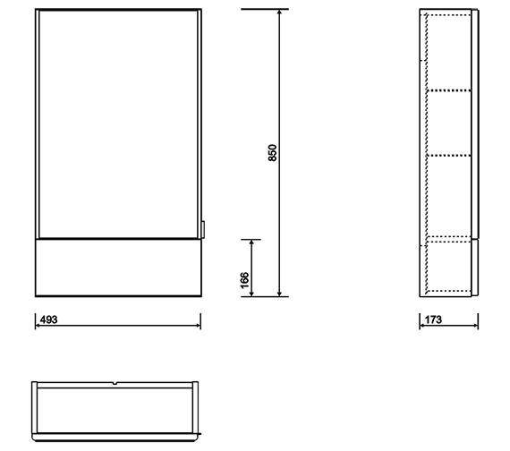 Technical drawing QS-V10695 / E10071WH