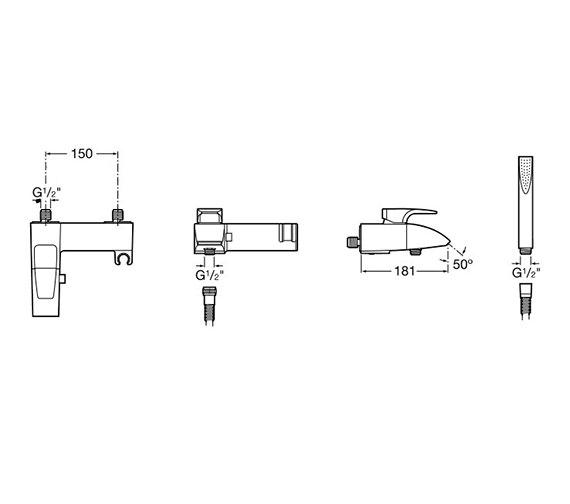Technical drawing QS-V60063 / 5A0150C00