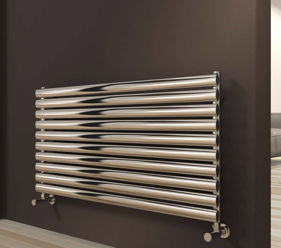 Reina Artena 590mm High Single Panel Radiator In Polished Or Brushed Finish 400mm Wide