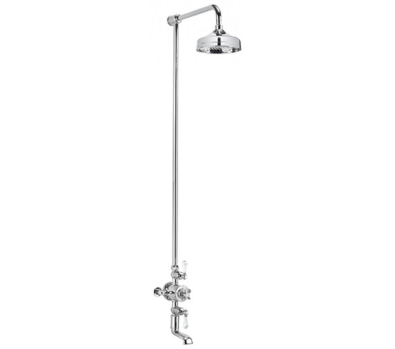 Additional image of Crosswater Belgravia Chrome Thermostatic Bath Shower Mixer With Fixed Head