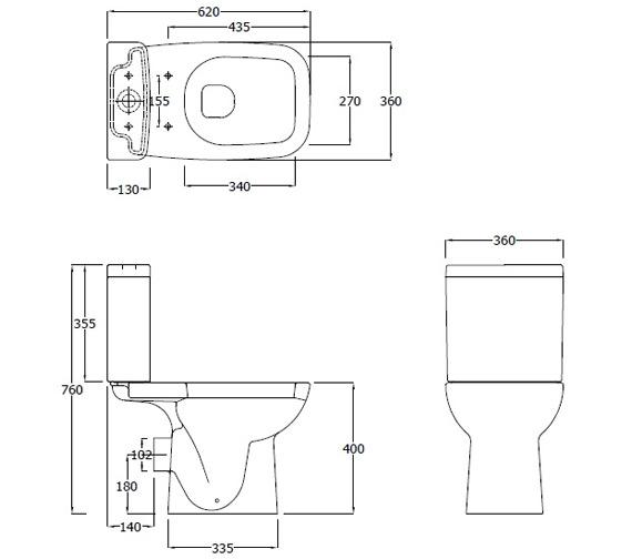 Technical drawing QS-V7280 / ORI62PAKSC
