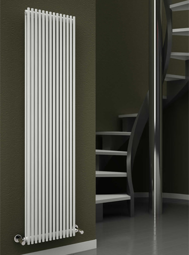 Reina Tubes 350 x 1800mm White Double Panel Steel Designer Radiator