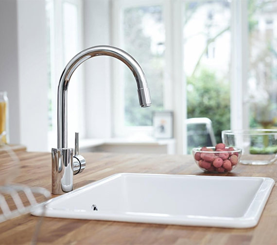 Grohe Concetto Single Lever Monobloc Sink Mixer Tap Chrome
