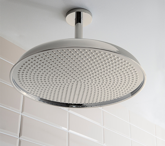 Crosswater Belgravia Nickel Fixed Shower Head 450mm - FH18N