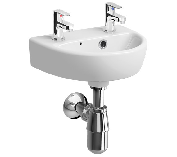 Additional image of Twyford E100 Round 360 x 290mm 1 Tap Hole Handrinse Washbasin