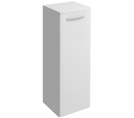 Twyford E100 Square 330 x 865mm Large Side Furniture Unit White Gloss