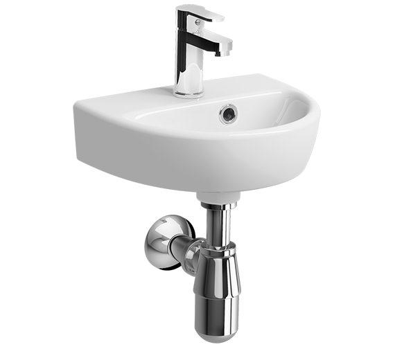 Twyford E100 Round 360 x 290mm 1 Tap Hole Handrinse Washbasin
