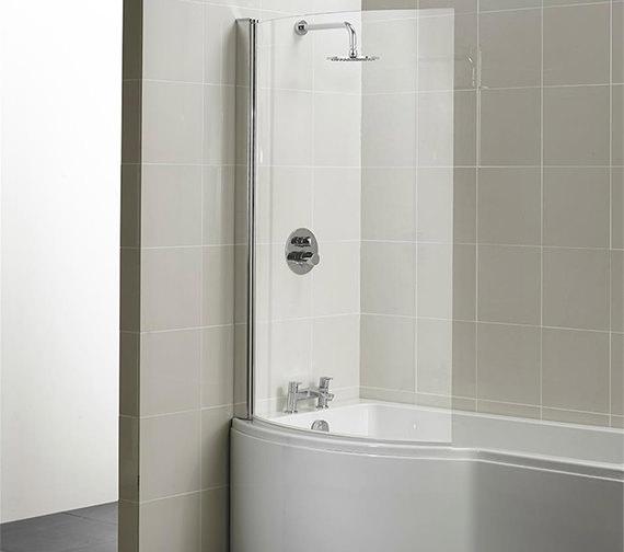 Ideal Standard Concept 1022 X 1500mm Curved Shower Bath
