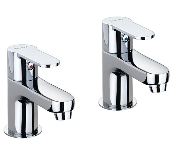 Twyford X50 Pair Of Basin Pillar Taps - X505205CP