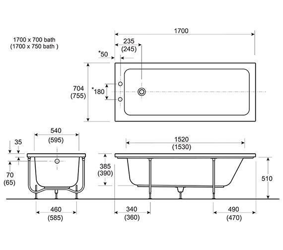 Technical drawing QS-V10729 / AP8500WH