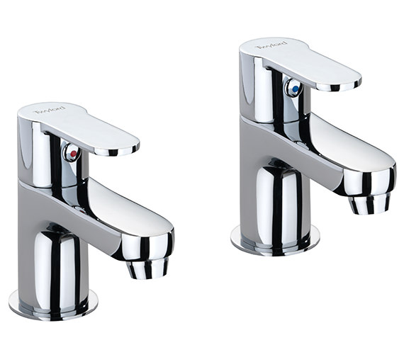 Twyford X50 Pair Of Bath Pillar Taps - X505215CP