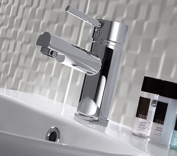 Additional image of Twyford X60 Mono Basin Mixer Tap With Click Clack Waste