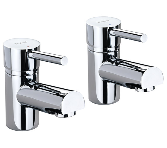 Twyford X60 Pair Of Designer Basin Pillar Taps - X605205CP