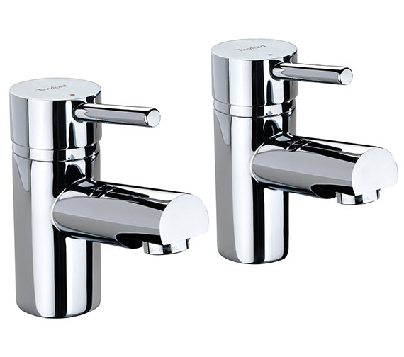 Twyford X60 Pair Of Designer Bath Pillar Taps - X605215CP