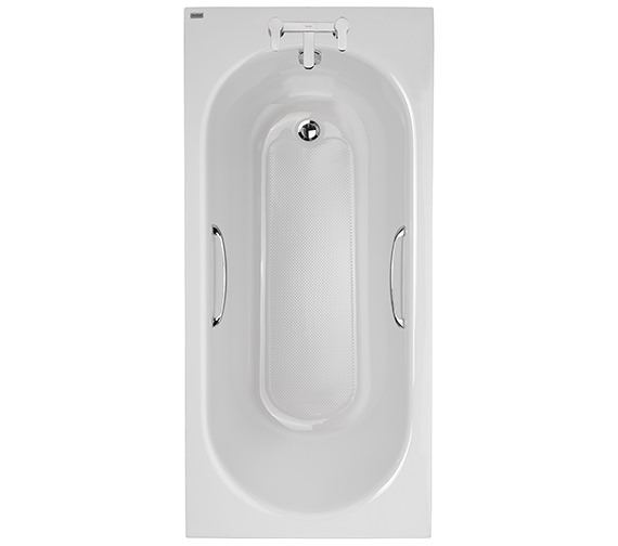 Twyford Opal Acrylic 2 Tap Hole 1500 x 700mm Bath With Tread And Grips