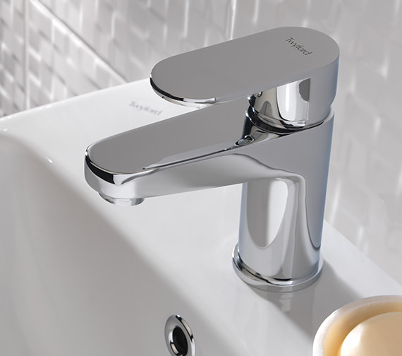 Twyford X70 Mono Basin Mixer Tap With Click Clack Waste