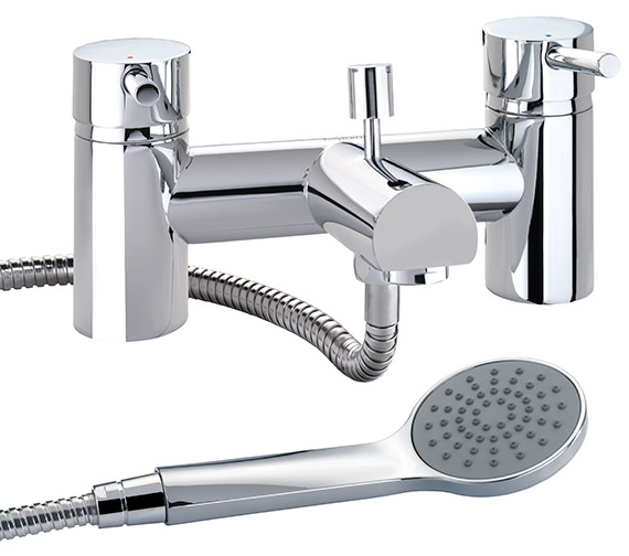 Twyford X60 Deck Mounted Bath Shower Mixer Tap - X605265CP