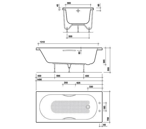 Technical drawing QS-V10737 / OL8200WH