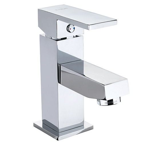 Twyford X62 Mono Mini Basin Mixer Tap With Click Clack Waste