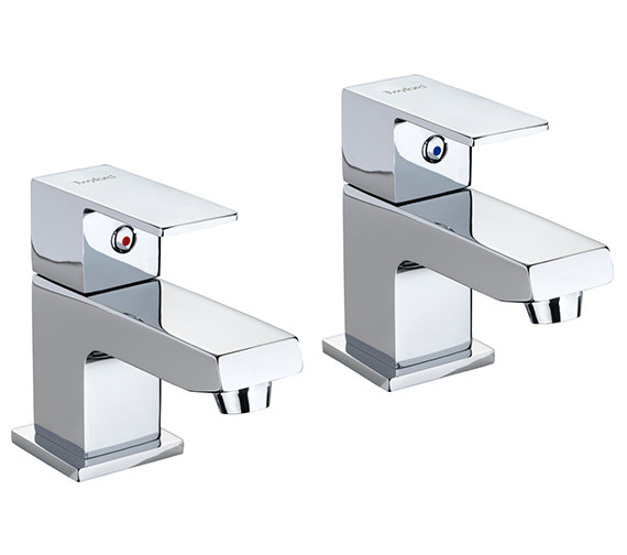 Twyford X62 Pair Of Designer Basin Pillar Taps - X625205CP