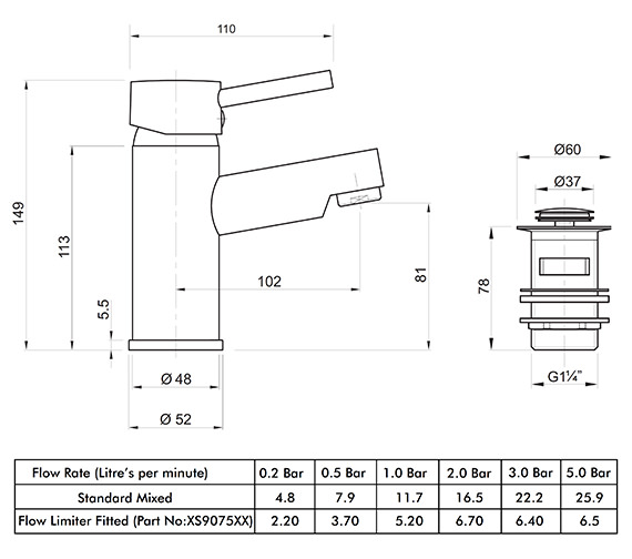 Technical drawing QS-V82165 / X605126CP