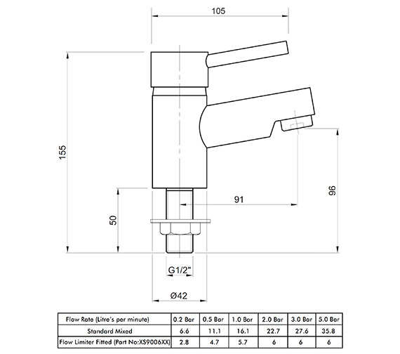 Technical drawing QS-V82167 / X605205CP