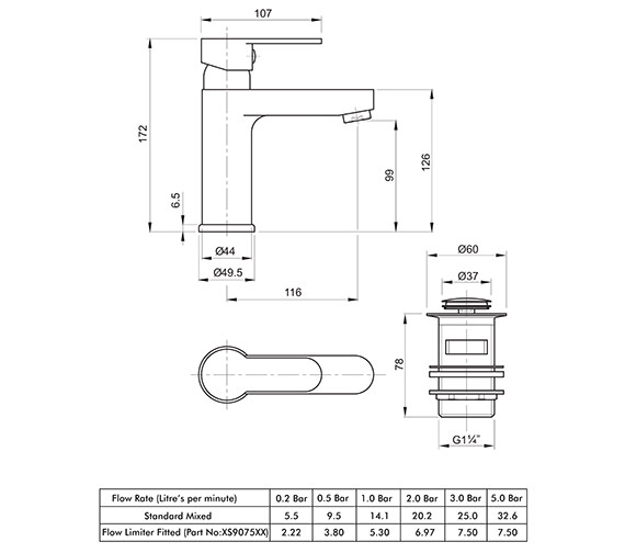 Technical drawing QS-V82158 / X505126CP
