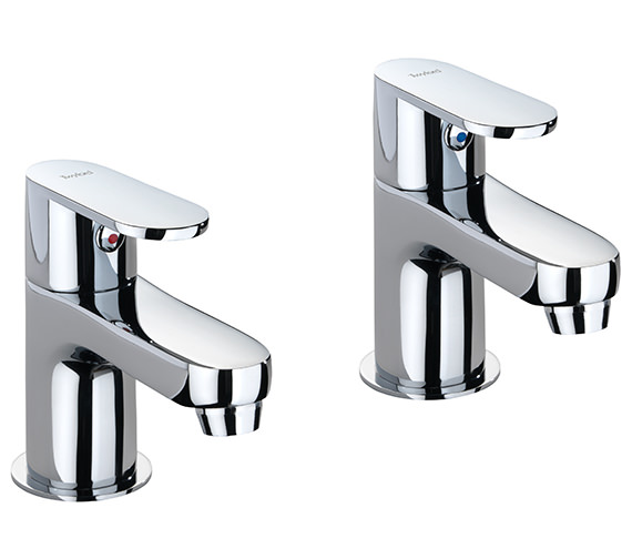Twyford X70 Pair Of Basin Pillar Taps - X705205CP