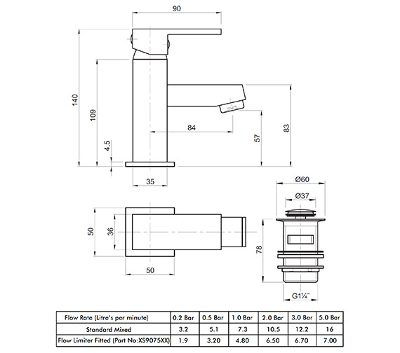 Technical drawing QS-V82173 / X625122CP