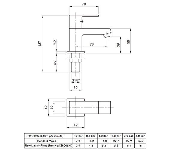 Technical drawing QS-V82174 / X625205CP