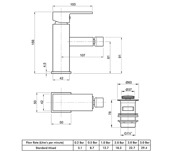 Technical drawing QS-V82175 / X625135CP