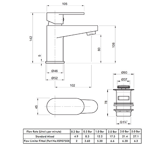 Technical drawing QS-V82179 / X705122CP