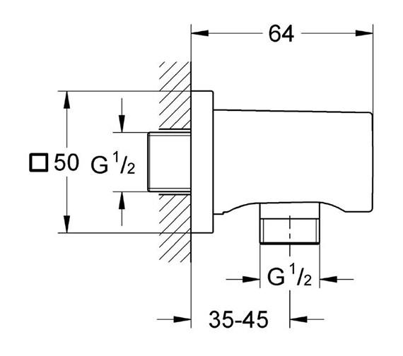 Technical drawing QS-V57758 / 27076000