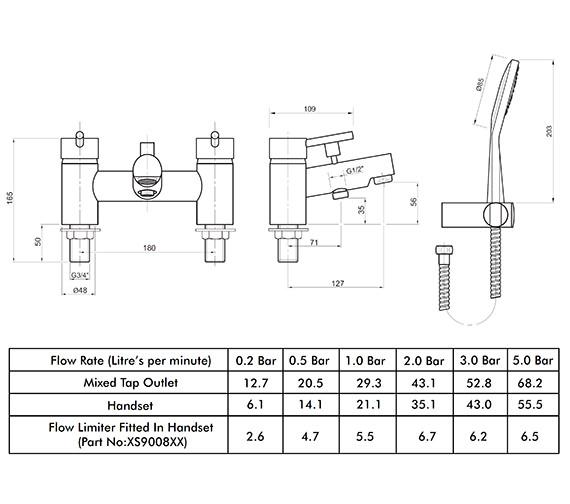 Technical drawing QS-V82171 / X605265CP
