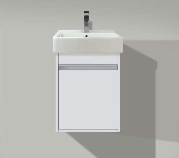 Duravit Ketho 400 x 320mm Wall Mounted 1 Door Vanity Unit With One Taphole Basin