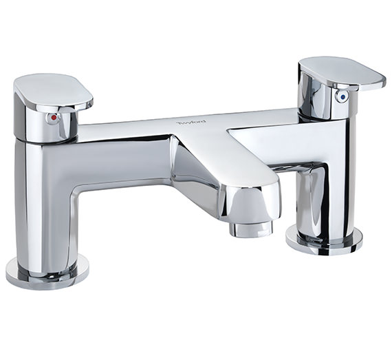 Twyford X70 Bath Filler Tap For Deck Mount Installation - X705255CP